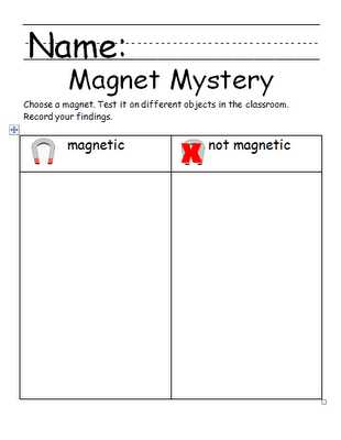 Magnetism Worksheet Answers Along with Chalk Talk A Kindergarten Blog A Magnetic attraction