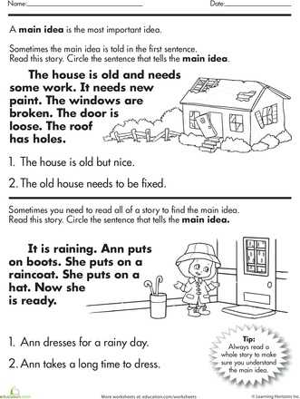 Main Idea Worksheets Pdf or 11 Best Main Idea and Details Images On Pinterest