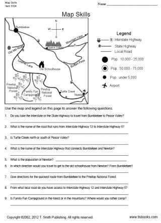 Map Skills Worksheets Middle School and Free Map Skills Worksheets Kidz Activities