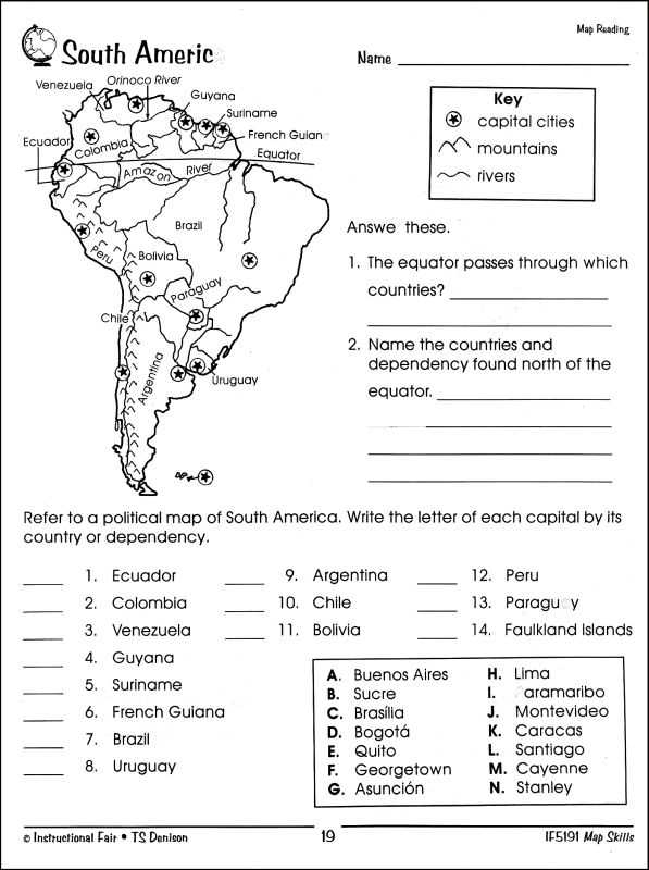 Map Skills Worksheets Middle School or Basic Map Skills Worksheets Worksheets for All