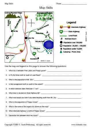 Map Skills Worksheets Middle School with Map and Globe Skills Worksheets Kidz Activities