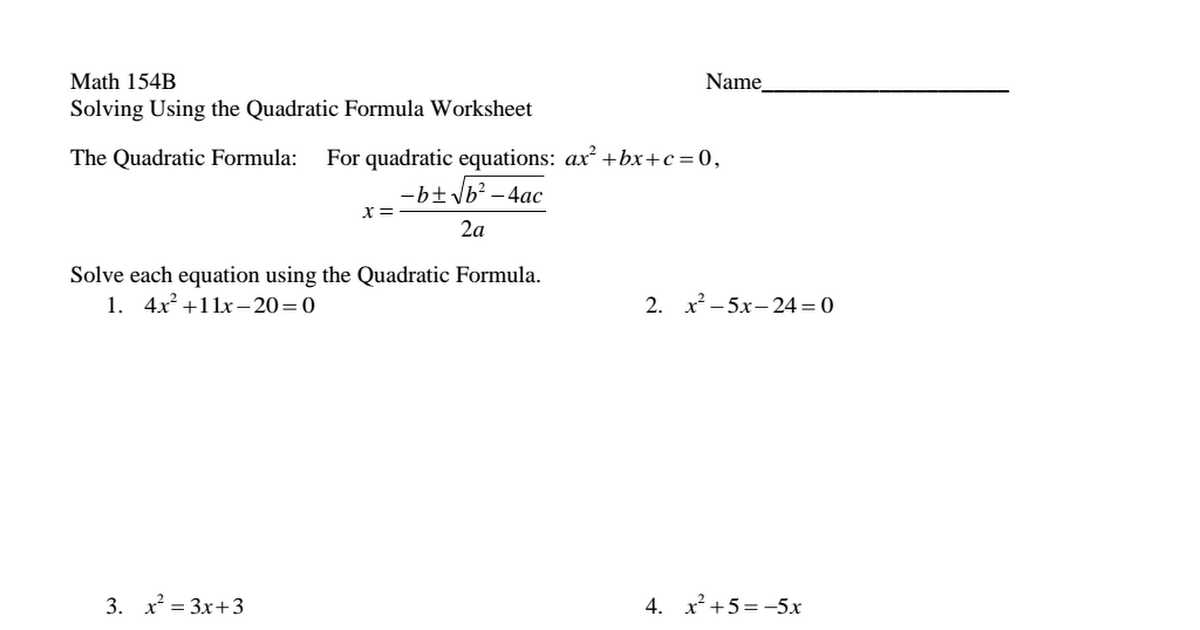 Math 154b Completing the Square Worksheet Answers together with Worksheets 46 Best solving Quadratic Equations by Factoring