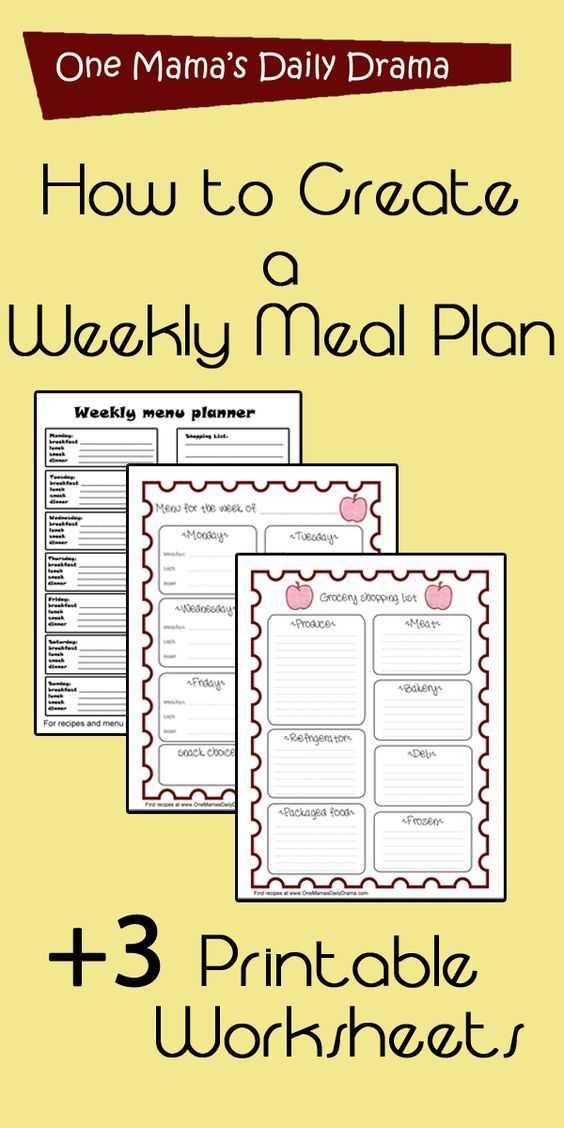 Meal Planning Worksheet as Well as 655 Best Meal Prep Planner Templates Images On Pinterest