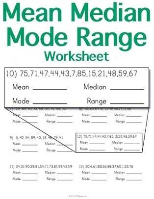 Mean Mode Median and Range Worksheet Answers as Well as Inspirational Mean Median Mode Worksheets Elegant Mean Median Mode