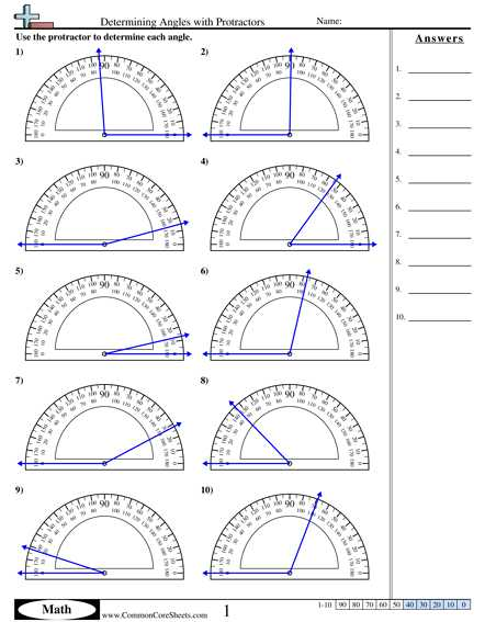 Measuring Angles with A Protractor Worksheet together with Angles In Circles Worksheet Worksheets for All