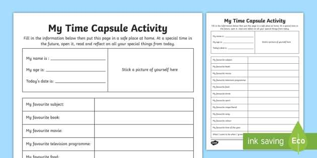 Medication Management Worksheets Activities Also My Time Capsule Worksheet Activity Sheet Time Capsule End