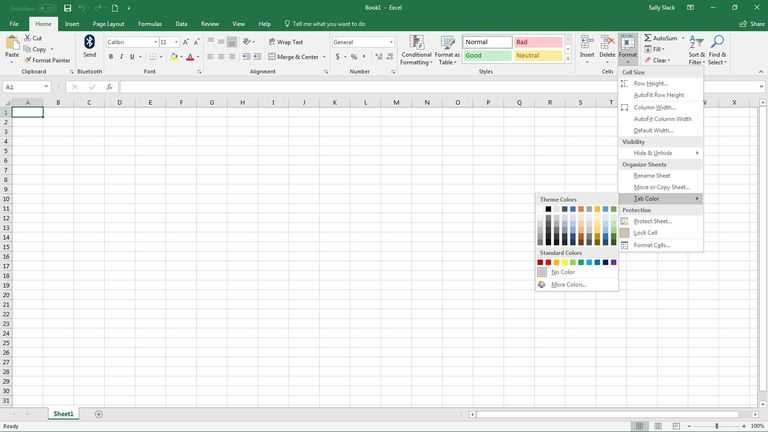 Menu Engineering Worksheet Excel with How to Change Worksheet Tab Colors In Excel