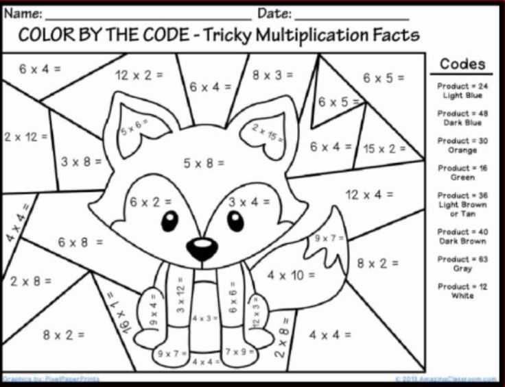 Multiplication Mystery Picture Worksheets and 134 Best Coloring Pages Line Art Pinterest – Fun Time