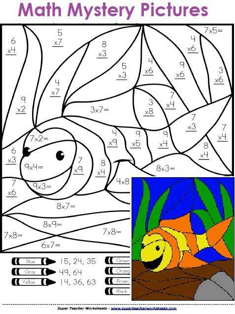 Multiplication Mystery Picture Worksheets as Well as I Might Knock Two Birds with One Stone Teach them Math and How