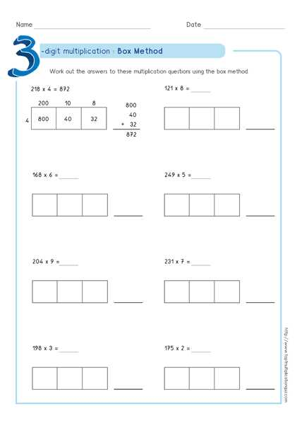 Multiply Using Partial Products 4th Grade Worksheets together with Partial Products Worksheets the Best Worksheets Image Collection