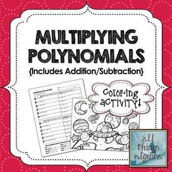 Multiplying Polynomials Worksheet as Well as Multiplying Polynomials Fun Worksheet Kidz Activities