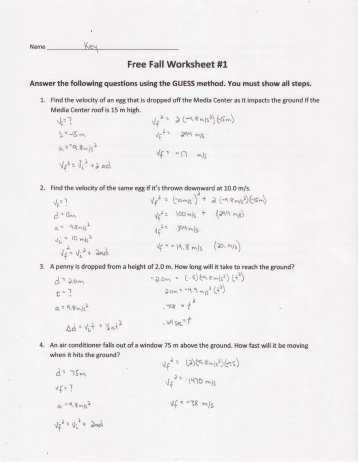 Net force and Acceleration Worksheet Answers and Worksheet