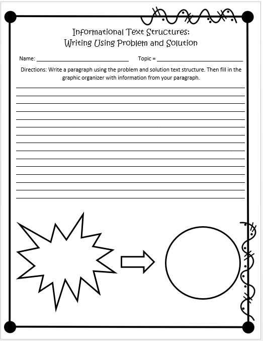Nonfiction Text Structures Worksheet and Informational Text Structures 4th and 5th Grades