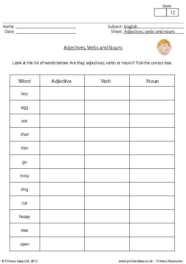 Noun Verb Adjective Adverb Worksheet Also Transform Sentences with Nouns and Adjectives Worksheets with