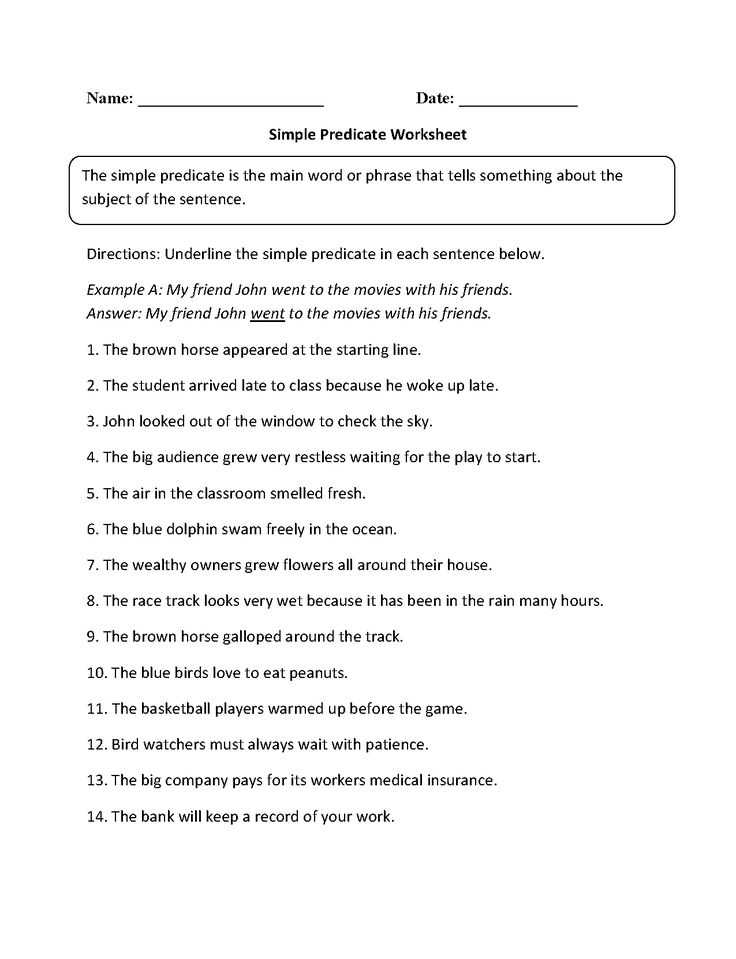 Noun Verb Adjective Adverb Worksheet as Well as 12 Best Subject Predicate Images On Pinterest