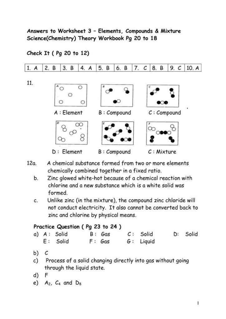Nova Hunting the Elements Worksheet Answer Key Along with Worksheet Elements Pounds Mixtures Brunokone and Answers