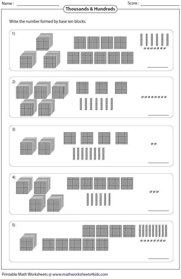 Number and Operations In Base Ten Grade 4 Worksheets or Base Ten Blocks Worksheets 5th Grade