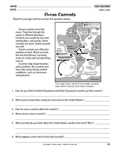 Ocean Surface Currents Worksheet Also Ocean Currents the Mailbox Oceanography Pinterest