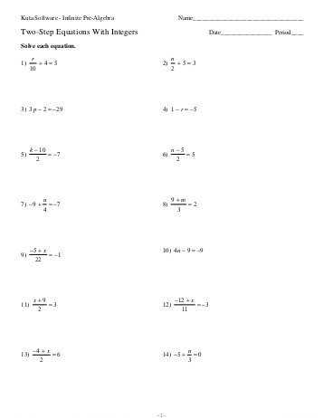 One Step Equations with Fractions Worksheet Along with E Step Equation Worksheets