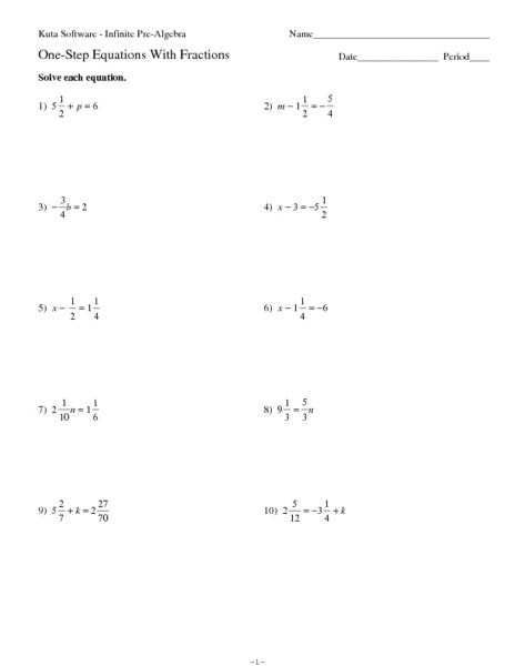 One Step Equations with Fractions Worksheet Along with Worksheets 47 Inspirational E Step Equations Worksheet High