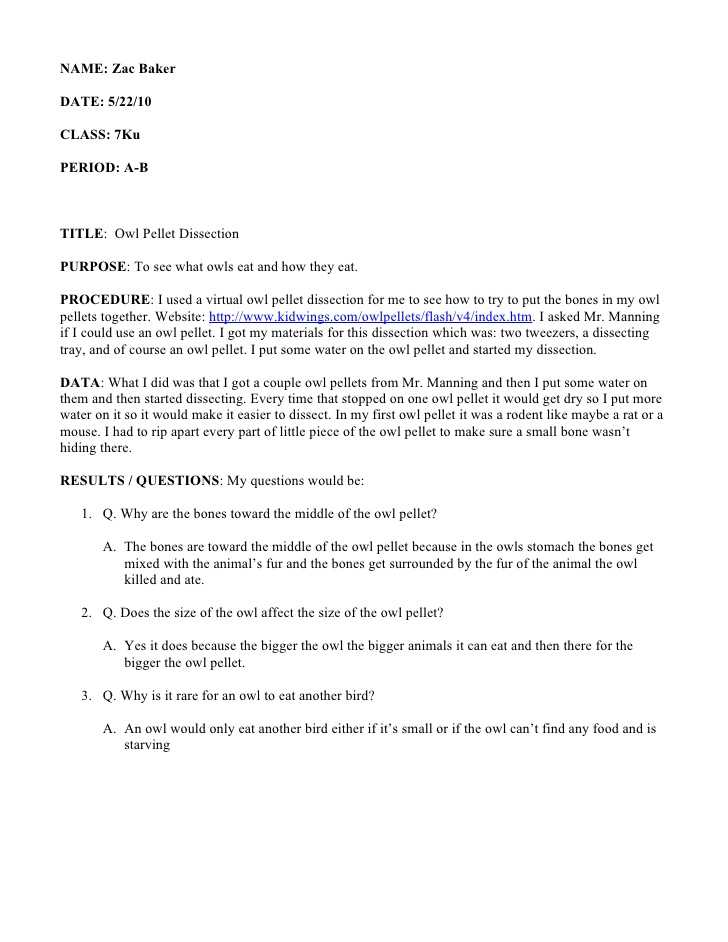 Owl Pellet Dissection Worksheet with Virtual Owl Pellet Dissection Worksheet Worksheet Math for Kids