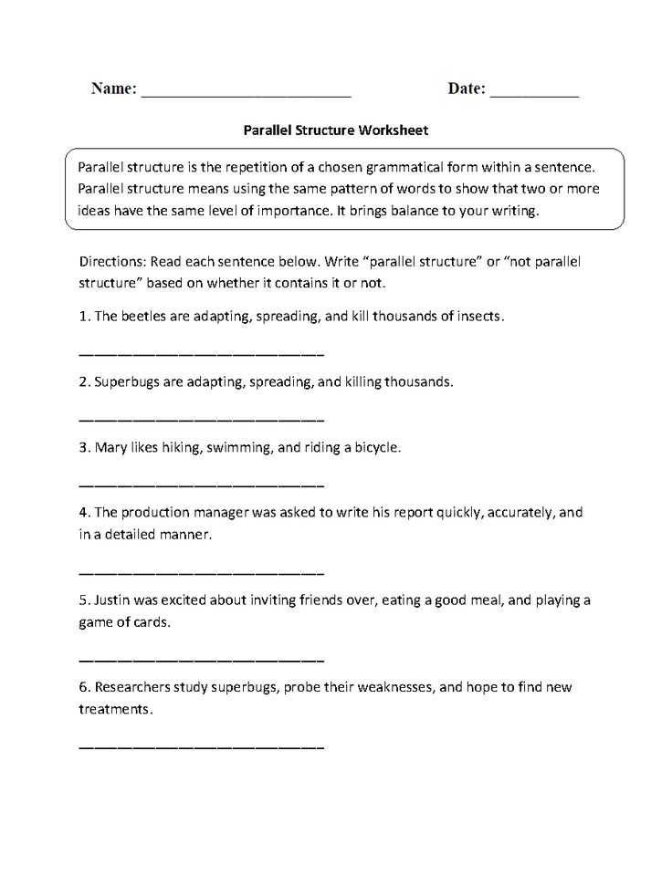 Parallel Structure Practice Worksheet as Well as 4033 Best Englishlinx Board Images On Pinterest