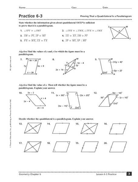 Parallelogram Proofs Worksheet Along with Proving A Quadrilateral is Parallelogram Worksheet Worksheets for
