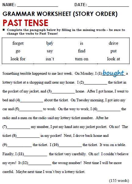 Past Tense Verbs Worksheets and Past Simple All Things Grammar