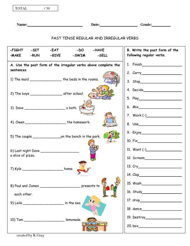Past Tense Verbs Worksheets as Well as Irregular Verbs Worksheets for Grade 1