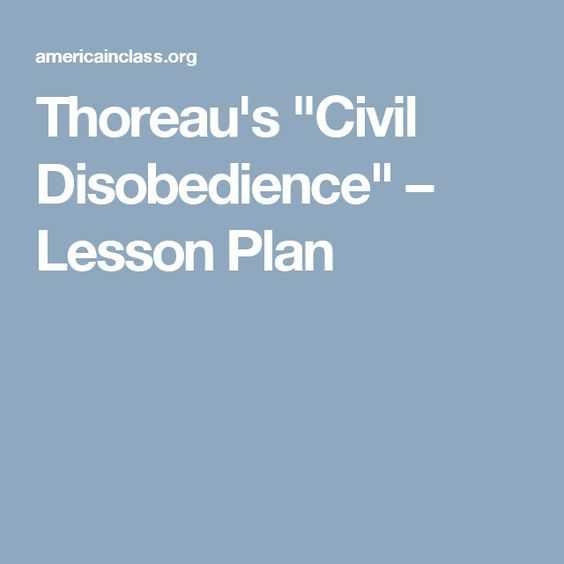 "Pbs Newshour Extra Structure Of Congress Worksheet Answers with Thoreau S ""civil Disobe Nce"" – Lesson Plan Education"
