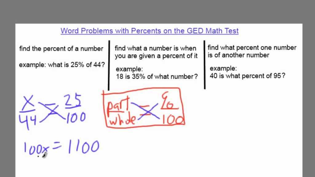 Percent Increase and Decrease Word Problems Worksheet with Kindergarten Word Problems with Percents the Ged Ged Math