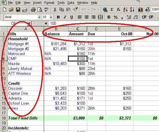 Personal Financial Planning Worksheets as Well as Make A Personal Bud On Excel In 4 Easy Steps