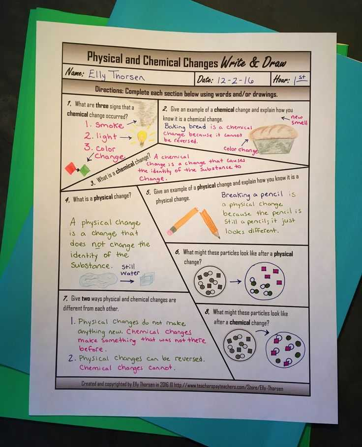 Physical and Chemical Properties Worksheet with 80 Best Physical & Chemical Changes Images On Pinterest
