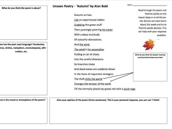 Poetry Analysis Worksheet Answers together with Christy S English Media Psche Shop Teaching Resources Tes