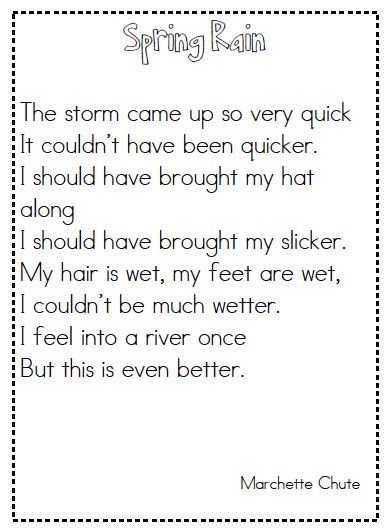 Poetry Comprehension Worksheets with 48 Best Elementary Poems Images On Pinterest