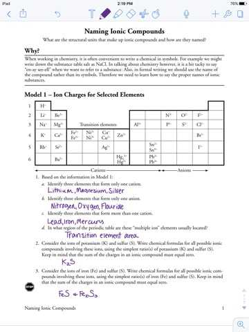 Polyatomic Ions Worksheet Answers Pogil together with Naming Ionic Pounds Worksheet Pogil Kidz Activities
