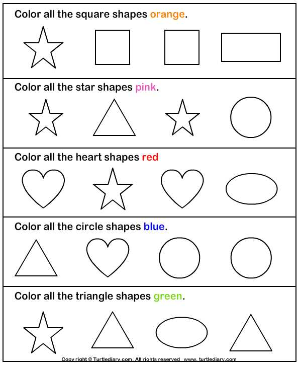 Preschool Learning Worksheets as Well as Identify Shapes Worksheet2