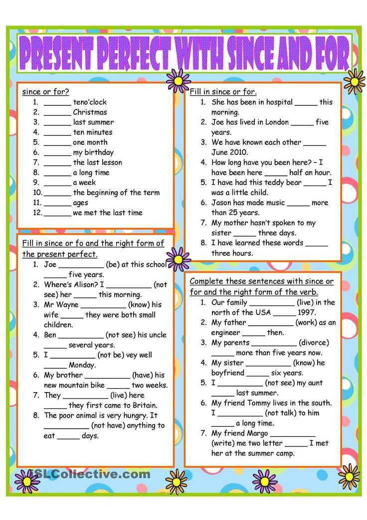 Present Perfect Tense Exercises Worksheet Also 63 Best Present Perfect Images On Pinterest
