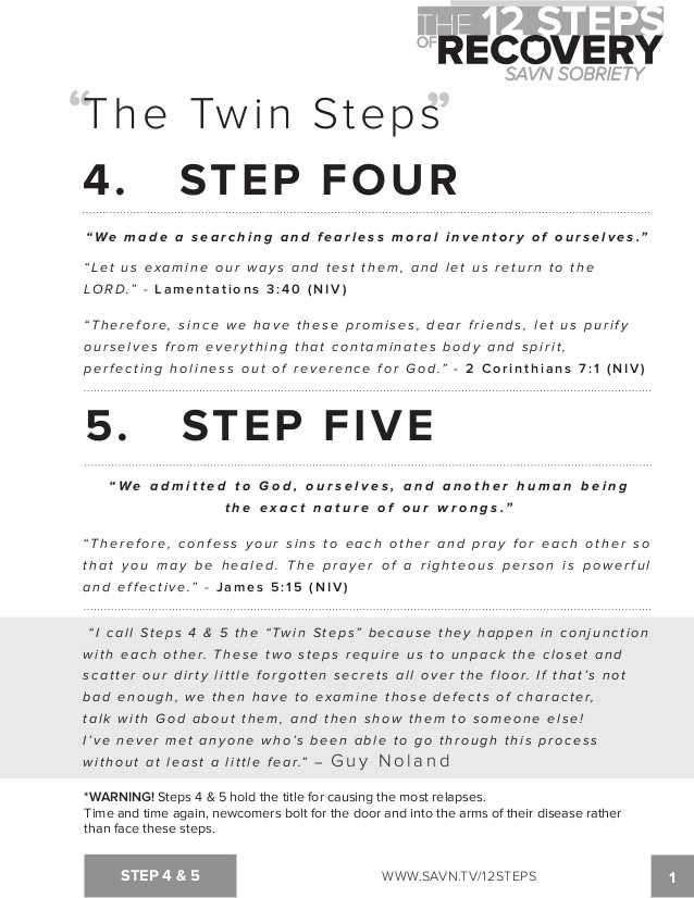 Printable Aa Step Worksheets together with the 12 Steps Of Recovery Savn sobriety Workbook