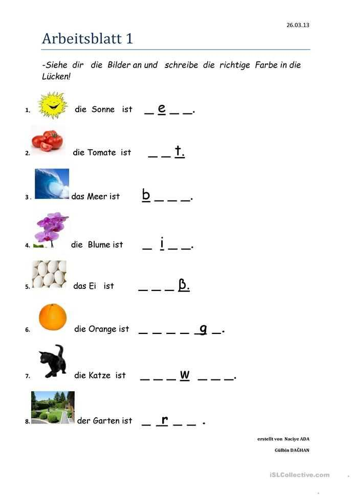 Printable Aphasia Worksheets Also Farben