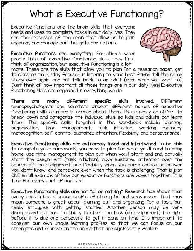 Printable Aphasia Worksheets and Free Executive Functioning Printables Includes Worksheets and