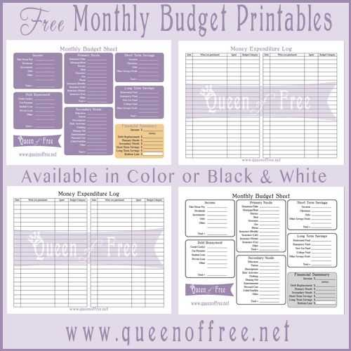 Printable Budget Worksheet and Free Printable Bud forms