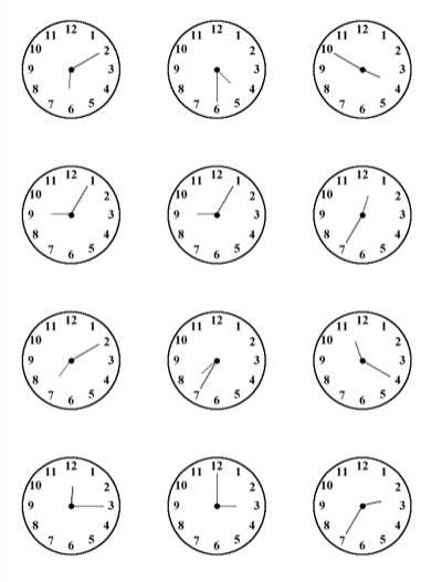 Printable Clock Worksheets or Time Practice Sheet for Kids All This Clock Face Printables