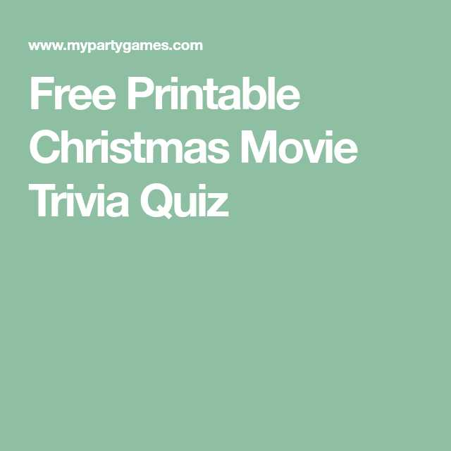 Printable Logo Quiz Worksheet or Free Printable Christmas Movie Trivia Quiz Xmas Games