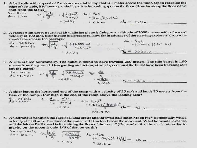 Projectile Motion Simulation Worksheet Answer Key or Worksheets 49 Unique Projectile Motion Worksheet High Resolution