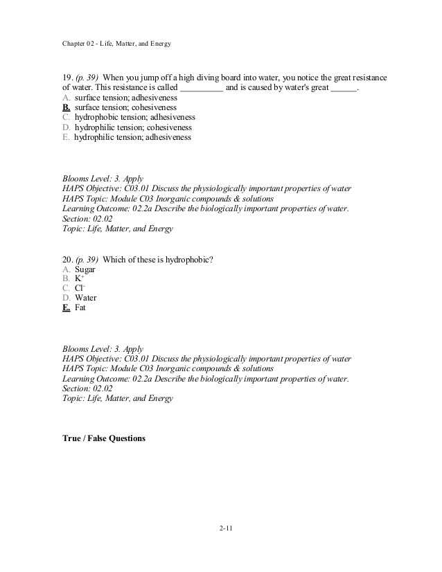 Properties Of Water Worksheet Answer Key with Wunderbar Chapter 11 Anatomy and Physiology Practice Test Galerie