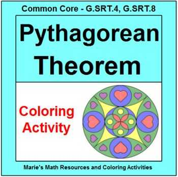 Pythagorean theorem Coloring Worksheet Along with 15 Best Pythagorean theorem Activities Images On Pinterest