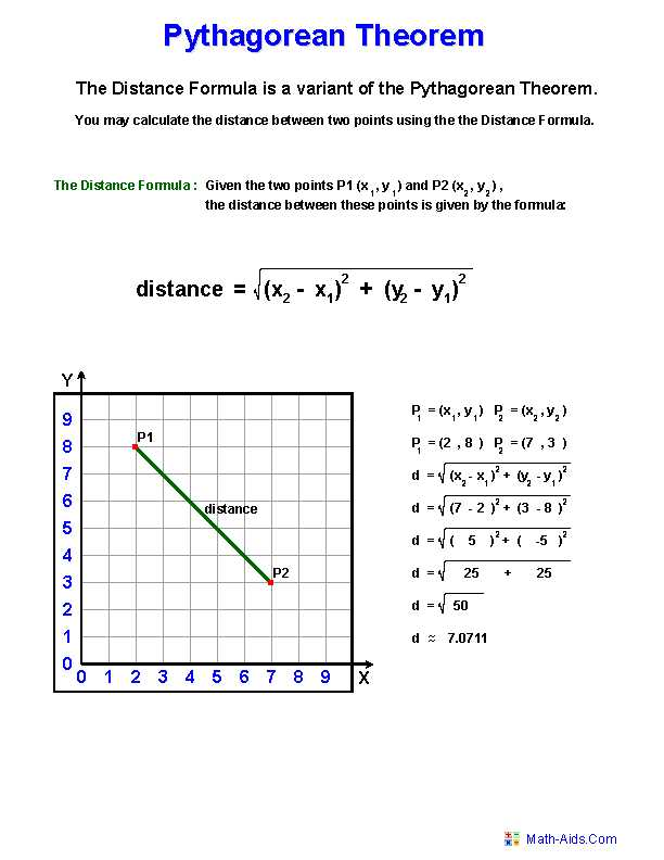 Pythagorean theorem Review Worksheet together with Pythagorean theorem Worksheets