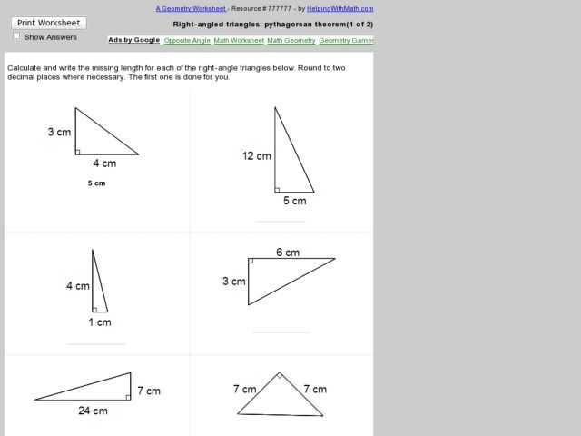 Pythagorean theorem Review Worksheet together with Worksheets 50 Unique Pythagorean theorem Worksheet High Definition