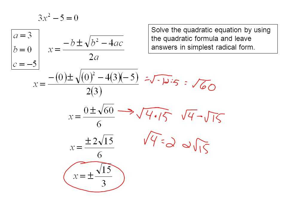 Quadratics Review Worksheet or Quadratic formula Simplest Radical form Worksheet Kidz Activities